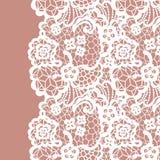 Seamless lace border. Invitation card. Royalty Free Stock Image