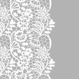 Seamless lace border. Invitation card. Royalty Free Stock Photo