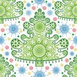 Seamless lace christmas tree pattern. Seamless abstract lace christmas tree pattern Stock Illustration
