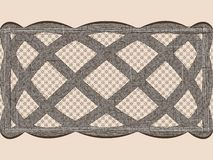 Seamless lace dark ribbon. Stock Photo