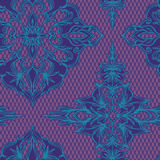 Seamless  lace decorative pattern with lace effect. Dark muted colors, tulle background Stock Image