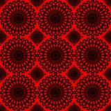 Seamless lace designed background in red and black Stock Photo