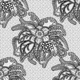 Seamless lace fabric. Black floral openwork pattern on a gray background. Royalty Free Stock Photography