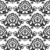 Seamless lace flora Royalty Free Stock Image