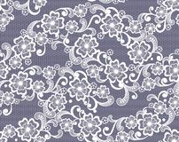 Seamless lace floral background Royalty Free Stock Photos