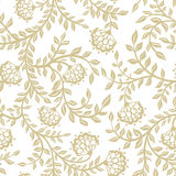 Seamless lace flowers on beige. White lace flowers on beige background. Vector illustration Royalty Free Stock Photography
