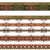 Seamless lace lacy washi tapes pattern on white background Stock Photo