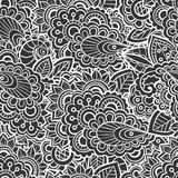 Seamless lace pattern. Seamless black and white lace pattern, vector illustration Stock Image