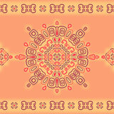 Seamless lace pattern in ethnic style. Royalty Free Stock Images