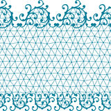 Seamless lace pattern with floral ornaments Royalty Free Stock Photo