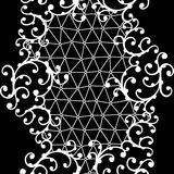Seamless lace pattern with floral ornaments Stock Image