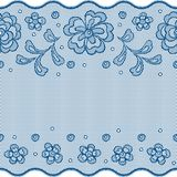 Seamless lace pattern, flower vintage vector Stock Images