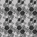 Seamless lace pattern with flowers. Infinitely wallpaper, decoration design, lingerie. Invitation cards,wallpaper tile ornament. Stock Image