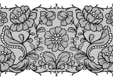 Seamless lace pattern with flowers. Vintage fashion textile royalty free illustration