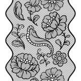 Seamless lace pattern with flowers. Vintage fashion textile vector illustration