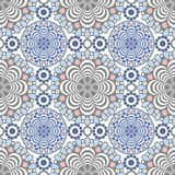 Seamless lace pattern print on white Stock Image