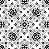 Seamless lace pattern print on white background Royalty Free Stock Photography