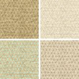 Seamless lace patterns on old paper texture Stock Photography