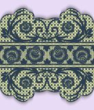 Seamless lace ribbon with flowers. Vector illustration Royalty Free Stock Photos