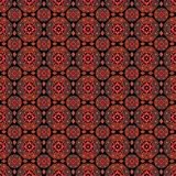 Seamless lace romantic pattern om black. Background Royalty Free Stock Image