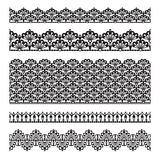 Seamless lace set Stock Photography