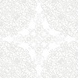 Seamless lace with shadow. Round seamless ornament light line with shadow Royalty Free Stock Photo