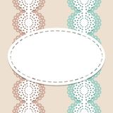 Seamless lace vector background. For invitation, menu, coffee or cake shop Stock Images