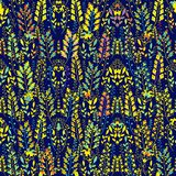 Seamless laced decorative floral pattern Royalty Free Stock Image