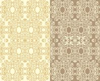 Set of decorative seamless laced   patterns Royalty Free Stock Image