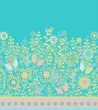 Seamless laced floral border  pattern Stock Photography