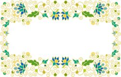 Seamless laced floral frame Royalty Free Stock Photo