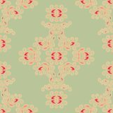 Seamless laced floral pattern Stock Image
