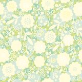 Seamless laced floral pattern Stock Photography