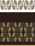 Set of samless laced floral pattern Royalty Free Stock Image