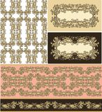 Set of samless laced floral pattern Royalty Free Stock Photography
