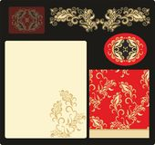 Set of samless laced floral pattern Royalty Free Stock Images