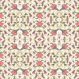 Seamless laced pattern with flowers in medieval style Stock Images