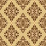 Seamless laced pattern  in medieval style Stock Photo