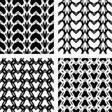 Seamless lacy knitted patterns. Stock Image