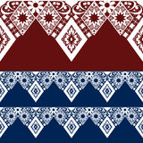Seamless lacy lace pattern on red blue Royalty Free Stock Photo