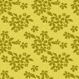 Seamless lacy lace pattern on yellow background Royalty Free Stock Images