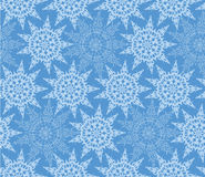 Seamless lacy pattern with snowflake Royalty Free Stock Images