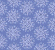 Seamless lacy pattern with snowflake Royalty Free Stock Photo