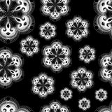 Seamless Lacy Snowflakes Stock Images