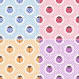 Seamless ladybug background. In pastel color Royalty Free Illustration