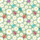 Seamless ladybug pattern Stock Photo