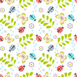Seamless ladybug pattern Royalty Free Stock Image