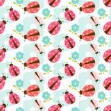 Seamless ladybug pattern Royalty Free Stock Image