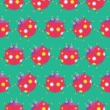 Seamless ladybug pattern icon  Stock Photos