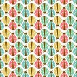 Seamless ladybug pattern Royalty Free Stock Photo